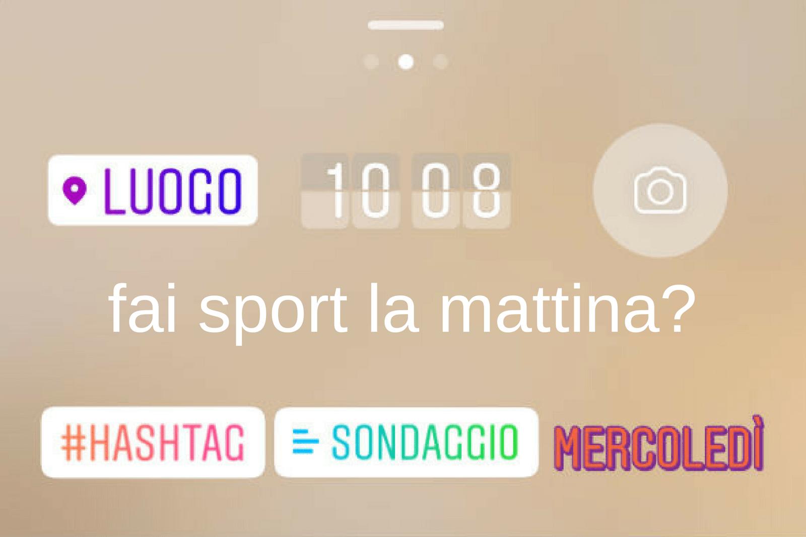 instagram inserisce sondaggio nelle stories